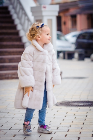Kids fur coat