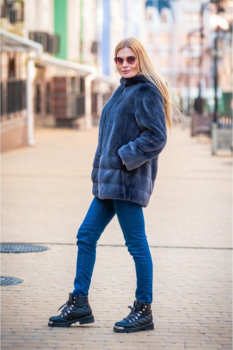 Fur coat 01-05-532 03- grahpite