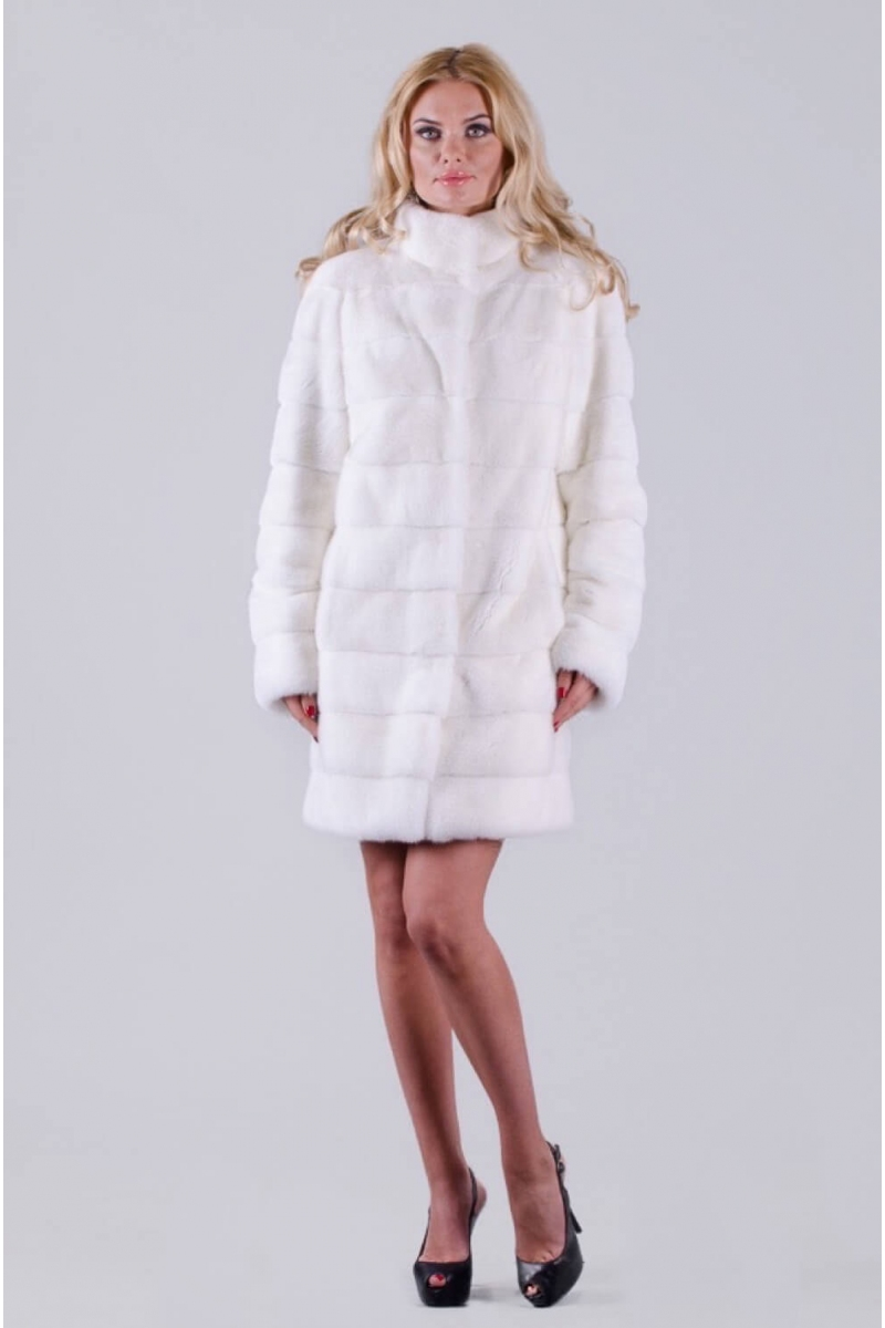 Fur coat 01-05-339-WHT