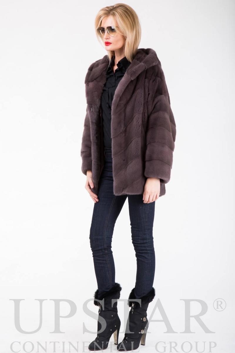 Fur coat 01-05-483-dust pink
