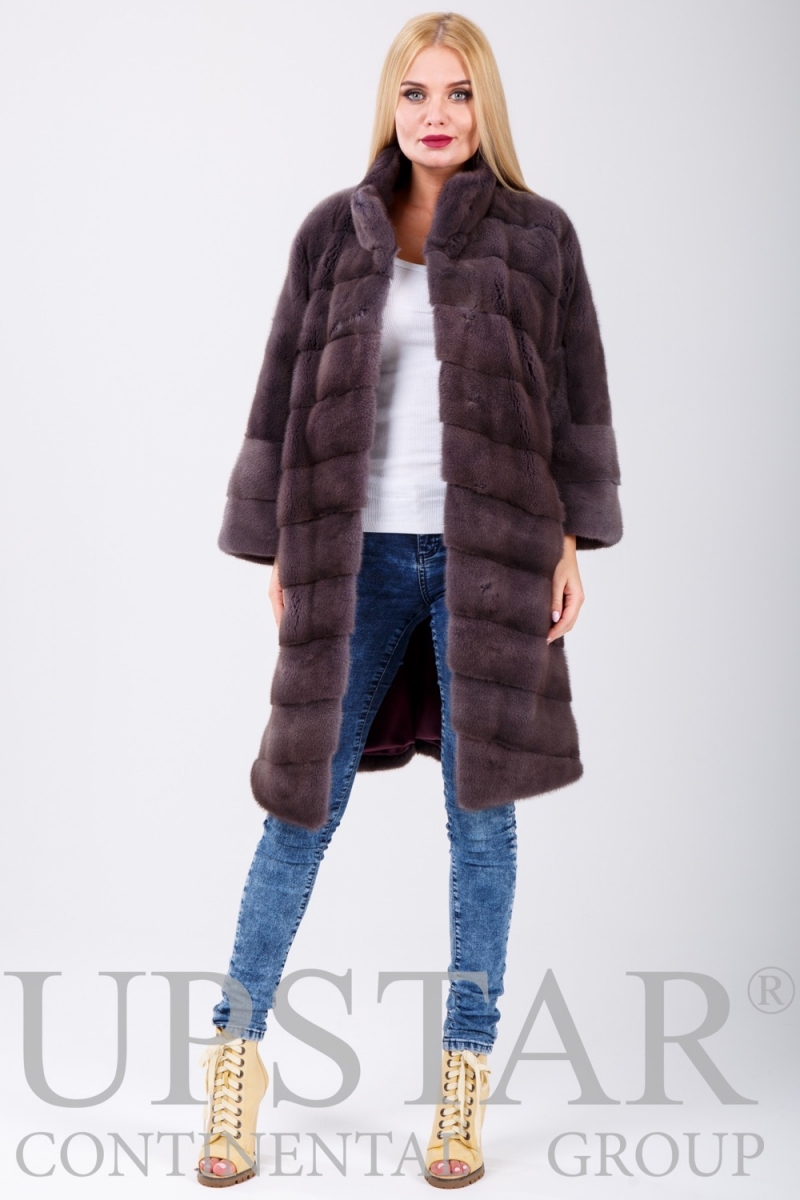 Fur coat 01-05-517 01-dust pink